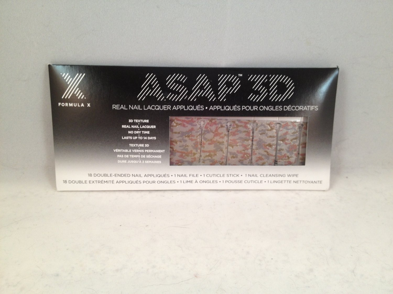 Formula X ASAP 3D Nail Appliqués Commando real nail lacquer polish strips wraps shields appliques