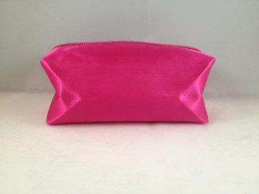 Bella Terra Cosmetics Pink Satin Rectangular Makeup travel Bag clutch cosmetic