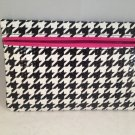 Ipsy MyGlam Glam Bag August 2015 Prep School Black White Houndstooth Cosmetic case clutch empty