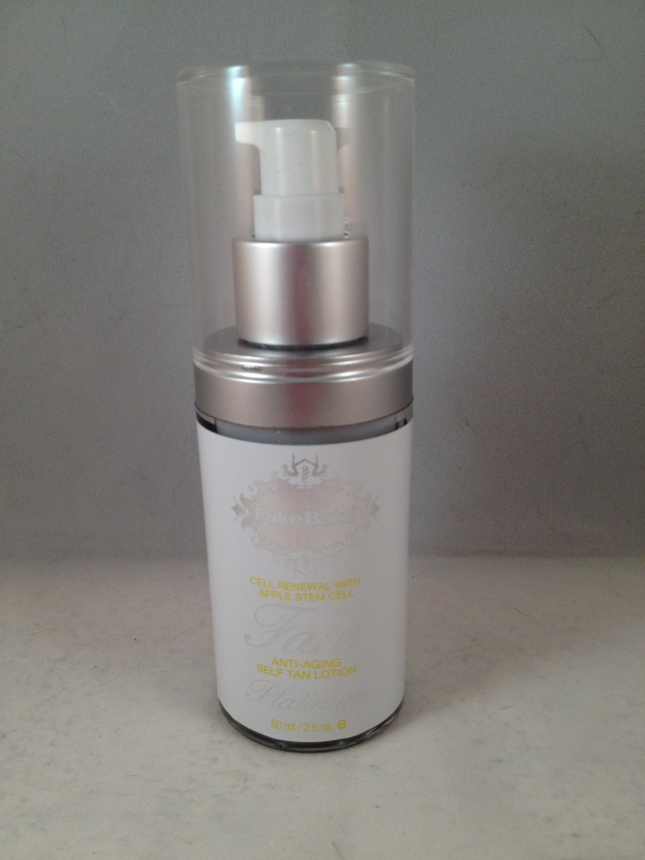 Fake Bake Platinum Face Tanner w/ Anti-Aging Self-Tan Liquid sunless tanning bronzer fakebake