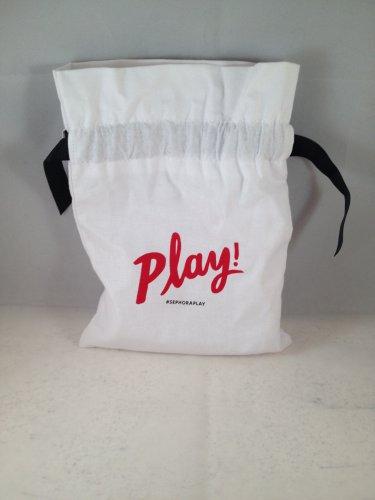 Sephora Play Drawstring Cloth Makeup Bag Play! June 2016 empty