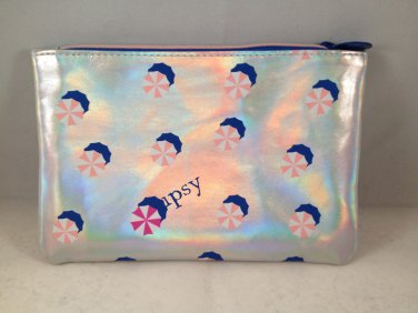 Ipsy MyGlam Glam Bag July 2016 Hot Summer Nights holographic Cosmetic clutch empty zippered