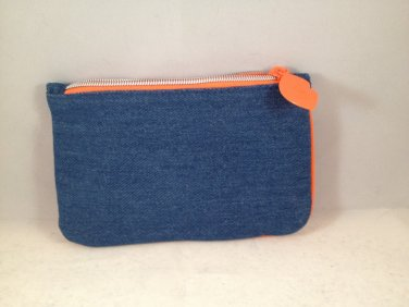 Ipsy MyGlam Glam Bag February 2017 Much Love Cosmetic case purse denim