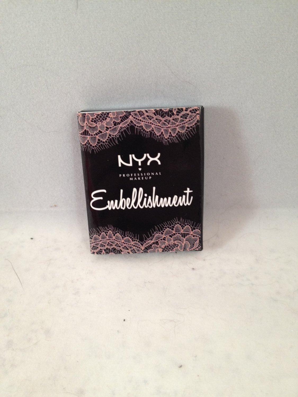 NYX Mini Lid Lingerie Embellishment Mini Pressed Eyeshadow matches lip shades