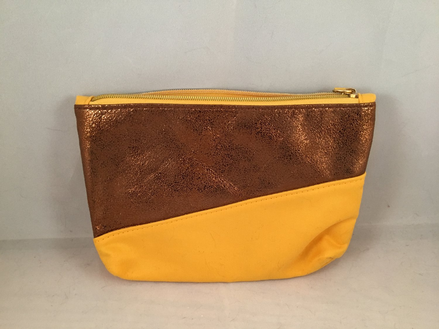 Ipsy MyGlam Glam Bag November 2017 All You Cosmetic case purse Yellow Bronze