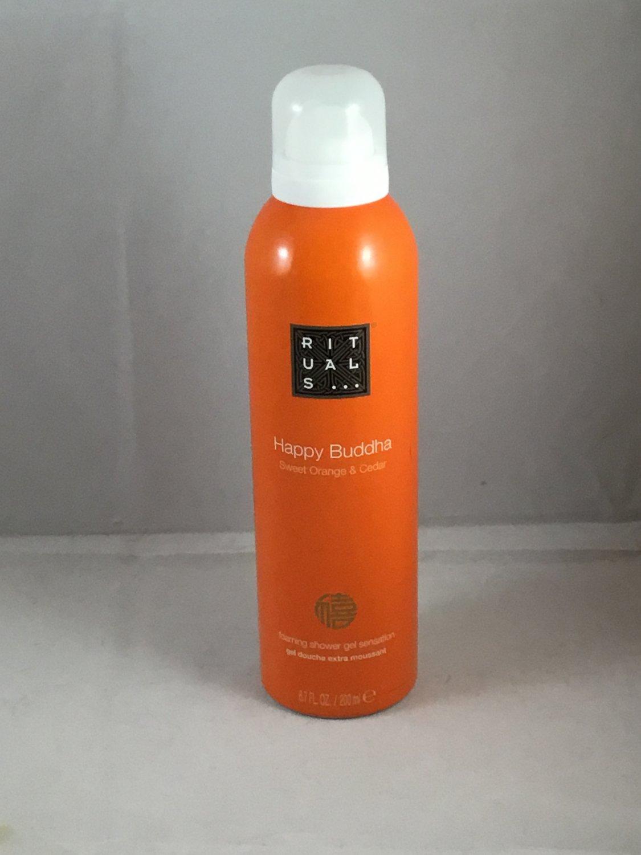 Rituals Happy Buddha Sweet Orange & Cedar Foaming Shower Gel Ritual of Laughing Body Wash Foam