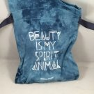 Sephora Play Blue Tie Dye Drawstring Makeup Bag Festival of Beauty Sprit Animal March 2018 empty