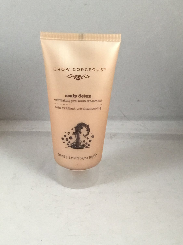 Grow Gorgeous Scalp Detox Exfoliating Pre-Wash Treatment Travel Size Hair