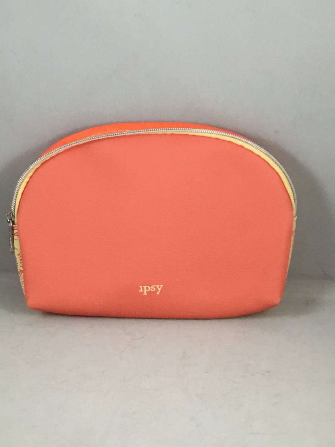 Ipsy MyGlam Glam Bag May 2018 Go There Cosmetic case purse Orange & Yellow Travel