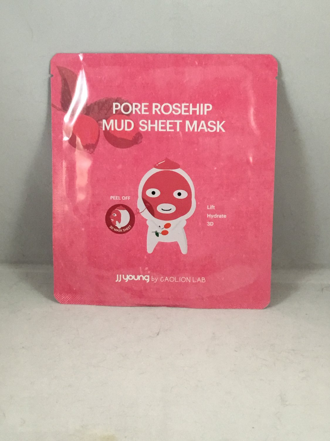 JJ Young by Caolion Lab Pore Rosehip Mud Sheet Mask Face JJYOUNG