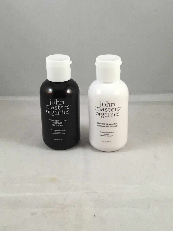 John Masters Organics Evening Primrose Shampoo & Lavender Avocado Intensive Conditioner Travel Set