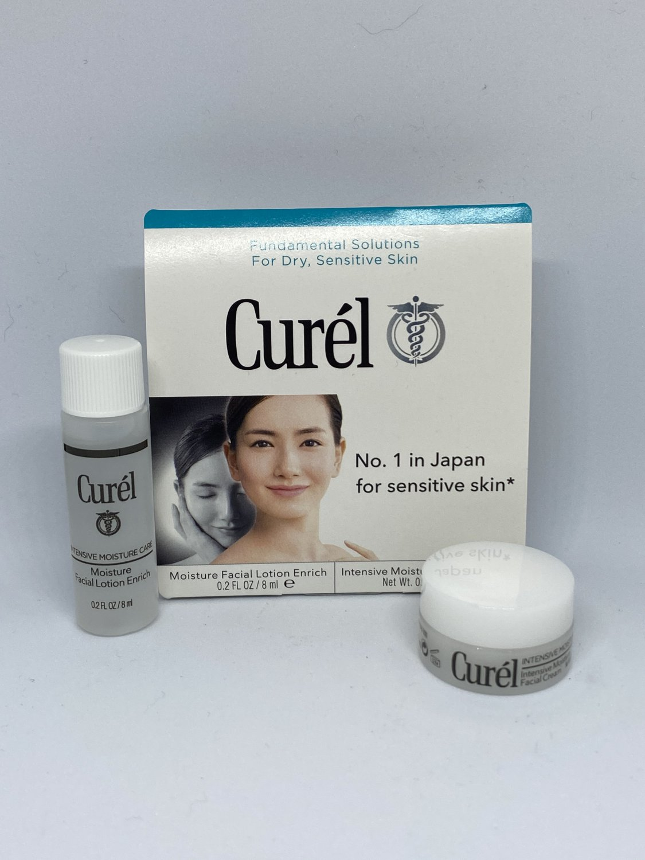 Curel Double Moisturization Sample Kit Facial Lotion Enrich & Intensive Moisture Facial Cream