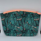 Ipsy MyGlam Glam Bag July 2019 Dive In Cosmetic case purse Leaves Tropical Travel