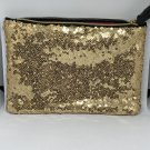 Ipsy MyGlam Glam Bag December 2018 Cosmetic case purse Black Gold Sequins