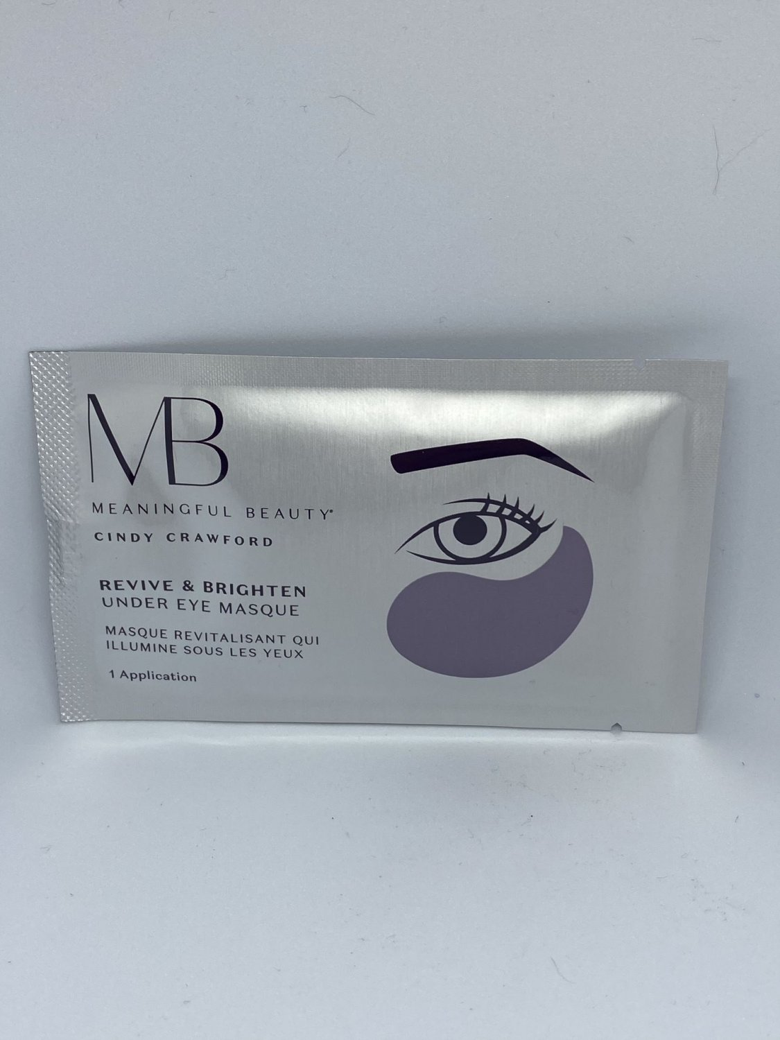 Meaningful Beauty by Cindy Crawford Revive & Brighten Under Eye Masque One Pair Mask Travel Size