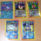 Pokemon Stickers Wartortle Dewgong Golduck Pidgey  LOT 5