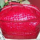 Avon Elegant Croc-Style Cosmetic Bag