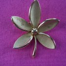 Crown TRIFARI 5 Petal Brushed Gold Pin