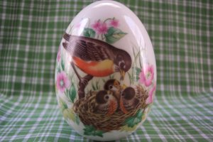 AVON  Collectable Ceramic Egg, Every Spring Brings a New Beginning