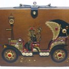 Vintage Box Purse, Enid Collins' Style: Bejeweled Antique Roadster, Chauffeur & Lady, Darling!