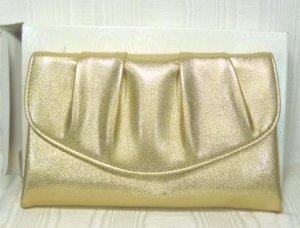 Vintage Avon Evening Purse: NIB, Pretty Brushed Gold Metallic for a Perfect Touch