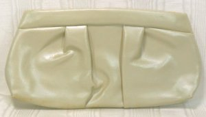 Soft Bone Colored Pearlized Finish on a Vintage Clutch; Perfect for a Special Touch
