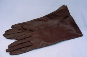 Burgundy Color in a Great Vintage Van Raalte Glove: 6-Button Length, Softest Fabric