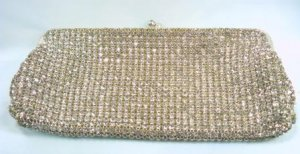 Spectacular!  Vintage Rhinestone Covered Evening Purse, Made in West Germany