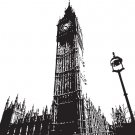 *NEW* BIG BEN SKYLINE VINYL WALL STICKER DECAL REMOVABLE