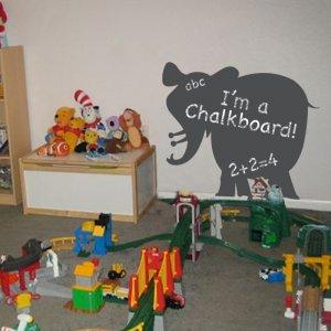 Big Elephant Chalkboard Vinyl Wall Sticker Decal Great for a Kids Room