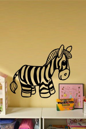 *NEW* Cute Zebra Vinyl Wall Sticker Decal Great for a Boy's Room