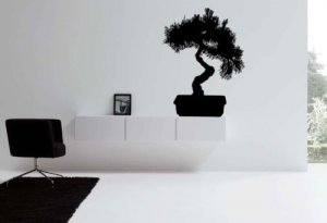 *NEW* Bonzai Tree Room Design Vinyl Wall Sticker Decal