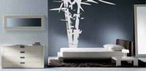 6 Foot Palm Bamboo Tree Design Vinyl Wall Sticker Decal