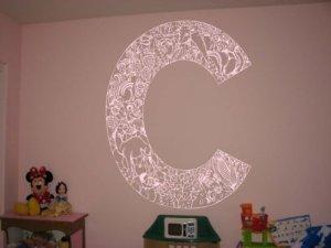 *NEW* Alphabet Letter C Kids Vinyl Wall Sticker Decal