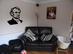 Honest Abe Lincoln Room Design Vinyl Wall Sticker Decal