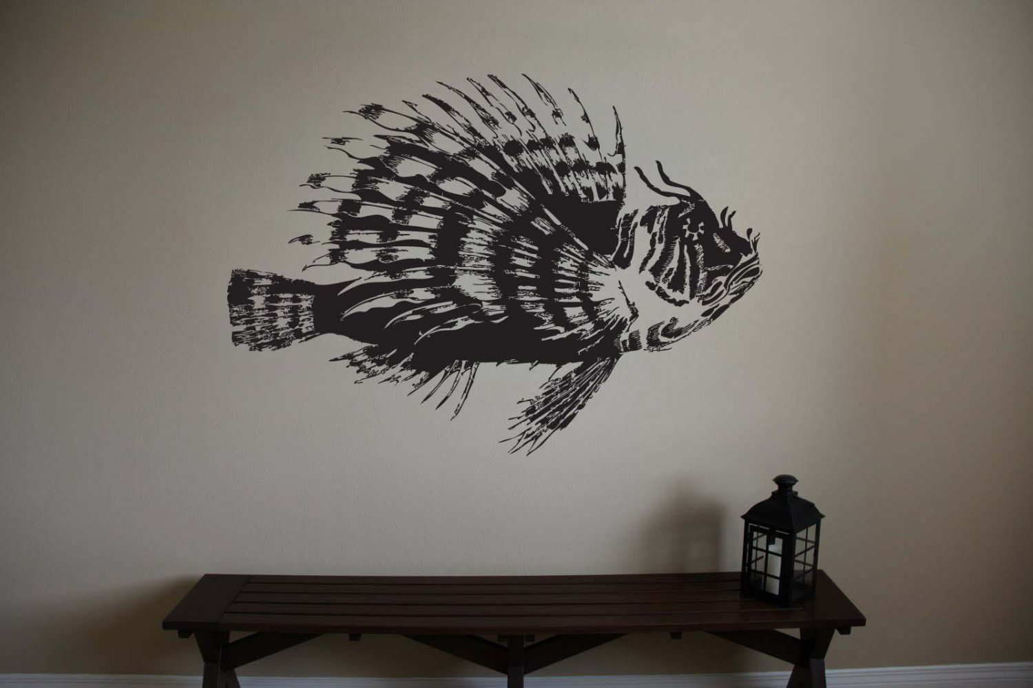Large Lionfish Vinyl Wall Sticker Decal