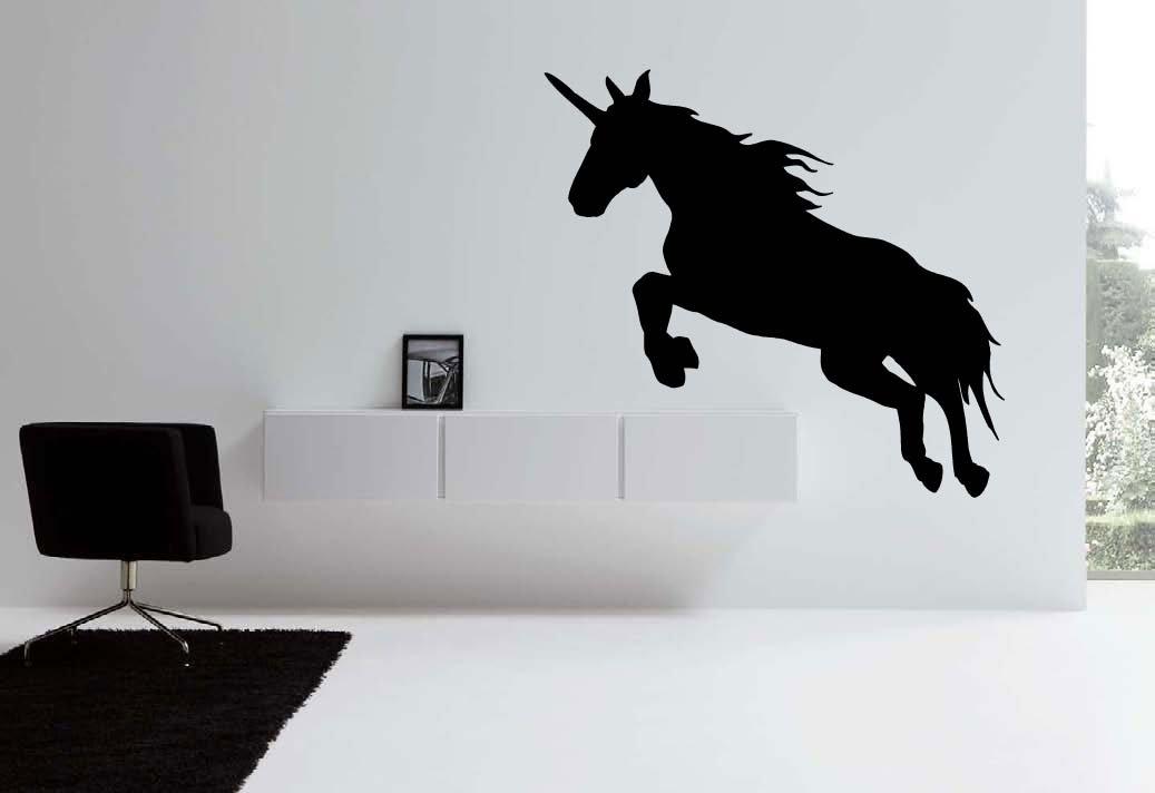Large Unicorn Vinyl Wall Sticker Decal