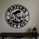 Vintage Tobacco Ad Navy Cut Vinyl Wall Sticker Decal