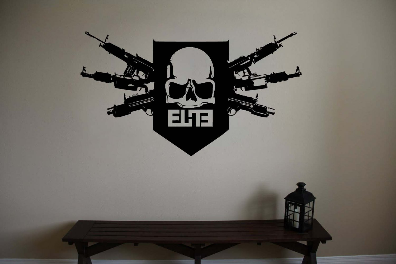 Large Call Of Duty Mw3 Skull Logo Ps3 Vinyl Wall Sticker