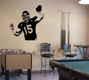 Large TIM TEBOW Denver Broncos Football Vinyl Wall Sticker Decal