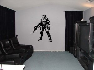 Large Halo Xbox Video Game Vinyl Wall Sticker