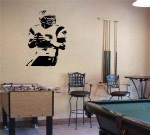 Large Tom Brady Patriots Football Vinyl Wall Sticker Decal