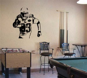 Large Wes Welker Patriots Football Vinyl Wall Sticker Decal