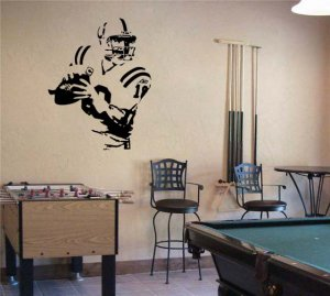 Large Peyton Manning Colts Football Vinyl Wall Sticker Decal