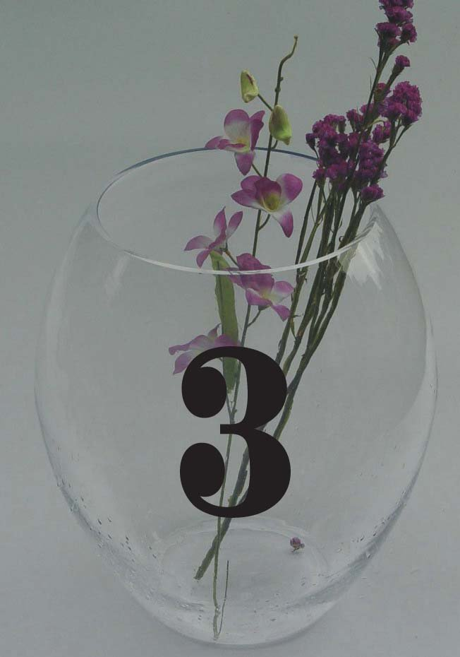 Wedding Table Numbers 1-15 Vinyl Sticker Decals
