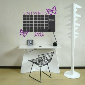 Chalkboard Monthly Butterflies Calendar Vinyl Wall Sticker Decal Great for any Office