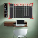 Chalkboard Monthly Calendar Vinyl Wall Sticker Decal Great for any Office