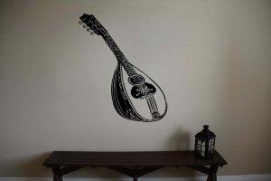 Antique Mandolin Guitar Vinyl Wall Sticker Decal