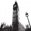 BIG BEN LONDON ENGLAND Artwork Vinyl Wall Sticker Decal 66 h x 72 w
