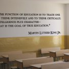 "Martin Luther King Classroom School Quote Vinyl Wall Sticker Decal 12.5""h x 40""w"